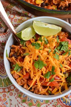 Slimming Eat Turkey Rice Burrito Bowls - gluten free, dairy free, vegetarian, Slimming World and Weight Watchers friendly