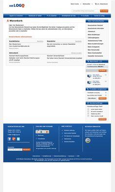 Checkout-Bereich des TLC Magento Onlineshop Basic.  Mehr unter: http://www.tlc-communications.de/produkte/e-commerce/onlineshop-basic.html