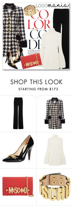 """Logomania!"" by andrejae ❤ liked on Polyvore featuring Diane Von Furstenberg, Moschino, Rosetta Getty and logomania"