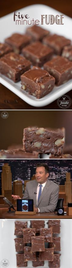 It doesn't get much faster, easier, or sinfully delicious than this Five Minute Fudge.  Even Jimmy Fallon talked about it on The Tonight Show!