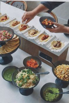 Barra de comida mexicana