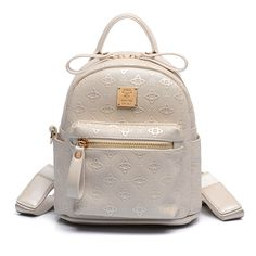 48.50$  Watch more here  - Trendy Embossing New Backpack Women Fashion Korean Style Casual Backpack High Quality PU Leather Small Bag Designer Zipper Bag