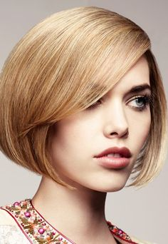examples Bob layered and stacked with bangs froot and back view | bob hairstyles choose the right bob for you