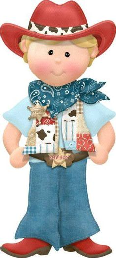"""Photo from album """"Lil' Tumbleweeds"""" on Yandex. Cowboy Love, Cowboy Theme, Cowgirl Party, Western Theme, Cowboy And Cowgirl, Clipart Boy, Cute Clipart, School Clipart, Cute Images"""