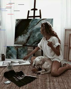 Find images and videos about girl, beauty and art on We Heart It - the app to get lost in what you love. Watercolor Mandala, Artist Aesthetic, Aesthetic Drawing, Aesthetic Painting, Artist Art, Artist At Work, Selfies, Call Art, Fashion Quotes