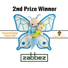 Butterfly Bree and Caterpillar Calin crochet pattern