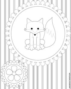 super cute fox printable via don't eat the paste