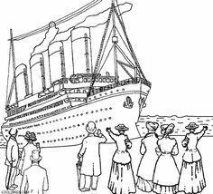 titanic coloring pages view from above | Coloring Pages/LineArt ...