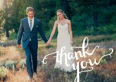 Full Photo Handwritten Thank You Card  Wedding by twinkleandtoast, $18.00