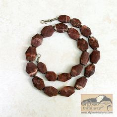 Red Jasper Diamond  Bead Strand 2 cm by AfghanTribalArts on Etsy, $28.00