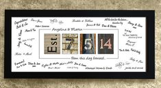 Personalized WEDDING GUEST BOOK - Unique Wedding Guest Book Alternative, Wedding Date Decoration, Framed Date Guestbook Sign In on Etsy, $69.95