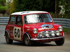 Mini Cooper S. 1965 Alpine rally 4th place Hopkirk . 1965 1000 lakes 6th place Hopkirk .