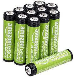 Amazon.com: Amazon Basics 12 Pack AAA Performance-Capacity 800 mAh Rechargeable Batteries, Pre-Charged, can be recharged 1,000 times: Electronics Electronics Projects, Kitchen Electronics, Electronics Gadgets, Gadgets Techniques, Alkaline Battery, Battery Sizes, Household, Digital Cameras, Ayrton Senna