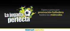 Vota por tu paquete favorito y regístrate aquí para que recibas nuestra gran promoción futbolera cada miércoles. Walmart.com.mx, Hacemos Clic!