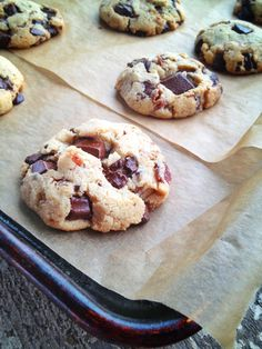 Maple Bacon Chocolate Chunk Cookies (Gluten/Grain/Starch/Egg/Dairy Free with directions to make Sugar Free.) by realsustenance $Cookies #Chocolate #Bacon #Gluten_Fre