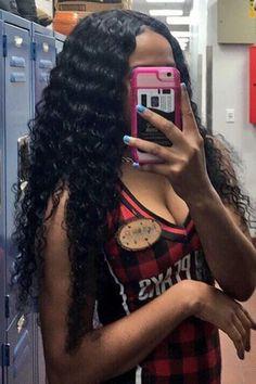 Online shop Brazilian Deep Wave With Closure Rabake Hair Deep Curly 3 Bundles With Closure Virgin Human Hair,worldwide shipping factory cheap price Remy Human Hair, Human Hair Extensions, Human Hair Wigs, Remy Hair, Weave Extensions, Lace Front Wigs, Lace Wigs, Deep Curly Weave, Body Wave Wig