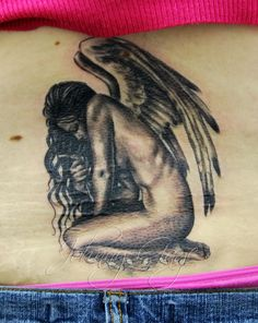 he loves me angel tattoo | Flickr - Photo Sharing!