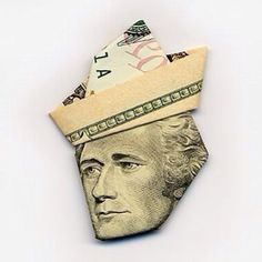 George Washington  made out of paper money
