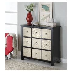 3 Drawer Accent Chest in Pewter & Cappuccino | Wayfair.com
