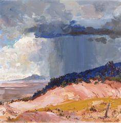 Fremont F. Ellis - The Summer Rain. Acrylic on canvas, 36 x 36 in.
