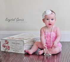 1st birthday photo shoot ideas -- could do with a box of chocolates for valentines