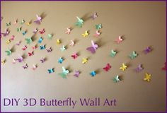 3D Butterfly Wall Art with FREE printable templates