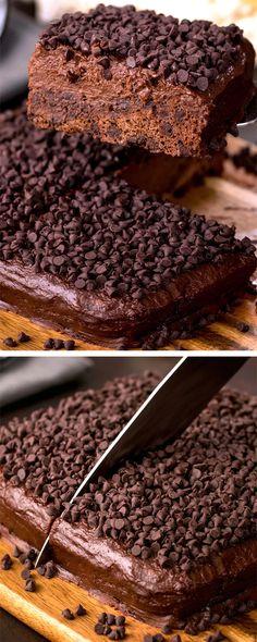 Sweet Recipes, Cake Recipes, Dessert Recipes, Desserts Diy, Healthy Cake, Healthy Sweets, Dessert Healthy, Vegan Chocolate, Chocolate Desserts