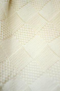 White Knit Baby Blanket Hand Knitted Baby Blanket | Etsy