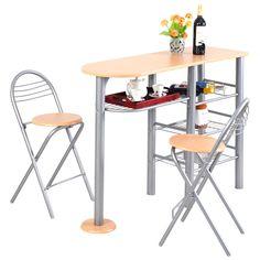 detalles de juego de comedor de mesa sillas mesa de desayuno cocina bar