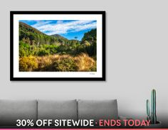 Discover «Forest and mountain range at Wilson Bay, NZ», Numbered Edition Fine Art Print by Daniela Constantinescu - From $24.9 - Curioos
