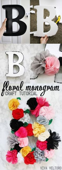 Crafts To Make and Sell - Flower Letter Monogram - 75 MORE Easy DIY Ideas for Cheap Things To Sell on Etsy, Online and for Craft Fairs. Make Money with crafts to sell ideas #crafts Diy Crafts For Kids Easy, Crafts To Make And Sell, Diy Home Crafts, Crafts For Teens, Easy Diy, Adult Crafts, Kids Crafts, Kansas City, Wordpress Theme
