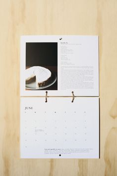 Trotski & Ash - 2013 Calendar  Landscape pages tied with coated paper twine.