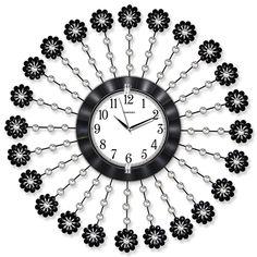Taşlı Ferforje Metal Çiçek Duvar Saati  Ürün Bilgisi ;  Ürün maddesi : Metal gövde, gerçek cam Ebat : 75 cm  Mekanizması : Akar saniye, sessiz çalışır Garanti : Saat motoru 5 yıl garantili Taşlı Ferforje İlginç Duvar Saati Üretim  : Yerli üretim Kullanım ömrü uzundur Kalem pil ile çalışmakta Ürün fotoğrafta görüldüğü gibi olup orjinal paketindedir Sevdiklerinize hediye olarak gönderebilirsiniz