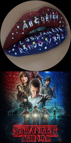 """Pin for Later: We Give This Stranger Things Lip Art an """"Eleven"""" Out of 10"""