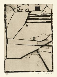 workman:  le-desir-de-lautre: Richard Diebenkorn (American, 1922-1993), #4 from Five Aquatints with Drypoint, 1978. Etching, aquatint and dr...