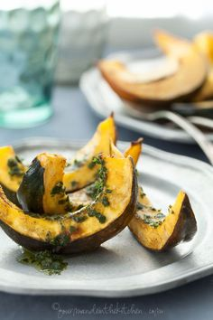Roasted Acorn Squash with Chermoula Sauce | Gourmande in the Kitchen