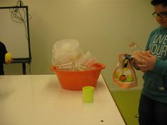 Estivémos a limpar o laboratório!