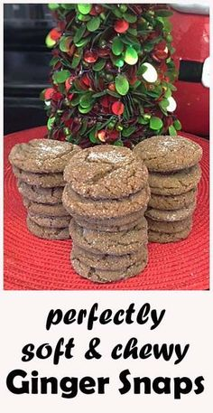 It's THAT recipe! The soft and chewy ginger molasses cookies. My kids look forward to these every year.