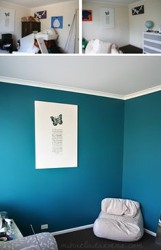 "Dulux ""Plume"" color. Better for game room"