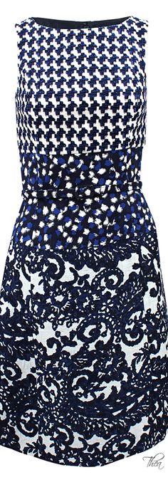 Oscar De La Renta Jewel Neckline Dress | The House of Beccaria#