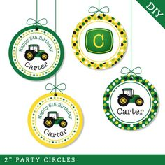 Tractor party  Personalized DIY printable party by chickabug, $12.00