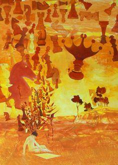 """""""L'accablé à câbler"""" Huile / carton 8P (46 x 33) 04/2004 inachevée"""