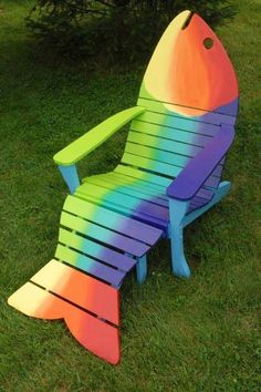 This is certainly the most funky Adirondack chair I've ever seen...All made from recycled pallets!