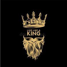 Golden Logo Of Crown,mustache And Beard Vector Illustration Stock Vector - Illustration of mascot, hipster: 109186176 - Golden logo of crown,mustache and beard vector illustration royalty free illustration -