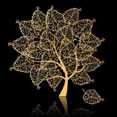 Golden Trees Free Vector Illustration @freebievectors