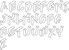 Type design information compiled and maintained by Luc Devroye. Alphabet Symbols, Hand Lettering Alphabet, Alphabet Design, Graffiti Alphabet, Graffiti Lettering Fonts, Lettering Styles, Doodle Art Letters, Bullet Journal Banner, Writing Fonts