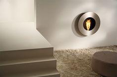 Furniture, Fabulous Designs of Fireplace: Unique Circular Fireplace Design