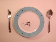 Beautiful wall clock made from recycled plate and serving utensils by AboutThatTimeAgain, $45.00
