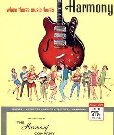 """savetheflower-1967:  Harmony Guitar ad, 1967.   """