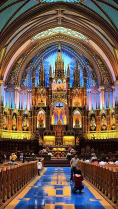 Notre-Dame Basilica of Montreal is a Landmark in QC. Plan your road trip to Notre-Dame Basilica of Montreal in QC with Roadtrippers. Montreal Quebec, Quebec City, Montreal Travel, Notre Dame Montreal, Dream Vacations, Vacation Spots, Vacation Ideas, Vacation Rentals, Beautiful Buildings